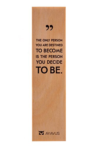 The Only Person You Are Destined to Become Is the Person You Choose to Be - Wood Bookmark Entrepreneur Quote Wooden Bookmark Hipster Modern Minimalist Inspirational Quotes Made in USA