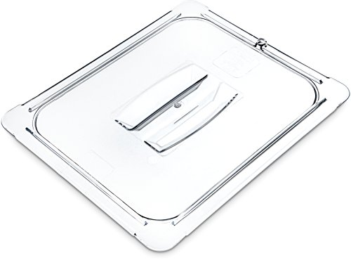 Carlisle 10230U07 StorPlus Half Size Polycarbonate Universal Handled Food Pan Lid, - Table Polycarbonate Steam Pans