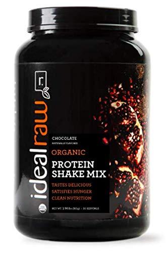 IdealRaw Plant Based Vegan Protein Powder - Gluten Free, Dairy Free, Soy Free, 1.96 lbs, 30 Servings (Chocolate)
