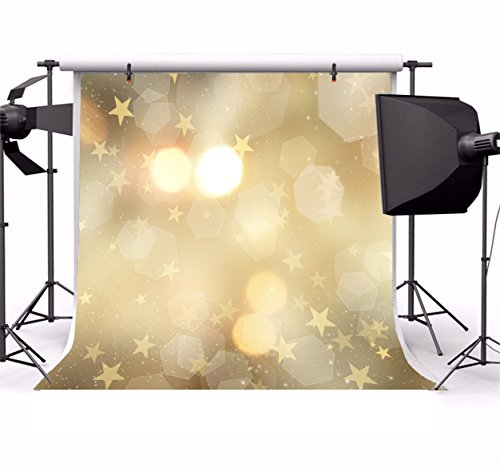 Leyiyi 4x4ft Photography Backdrop Vintage Happy Birthday Background Grunge  Light Spots Summer Party Wallpaper Rock Music Banquet Abstract Galaxy Baby