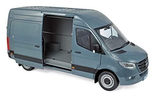 Norev 2018 Mercedes Benz Sprinter Cargo Van Blueish Gray 1/18 Diecast Model 183423 (Best Mercedes Benz Model)