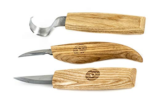 Wood Carving Kit - Set of Wood Carving Knives with Whittling Knife, Hook Knife, and Detail Knife + Knife Sharpener by Red Geese (Image #2)