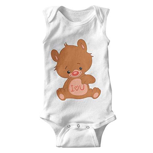 Love Teddy Bear I Love You Unisex Baby Onesies Boy Funny Infant