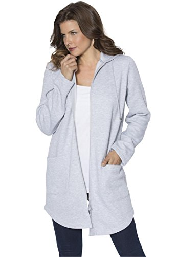 Roamans-Womens-Plus-Size-Lightweight-Fleece-Jacket