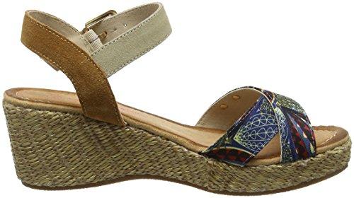 Sandalen Multi Les Damen par Gully Blau Tropéziennes Knöchelriemchen Bleu Belarbi M xqg0rxFvw