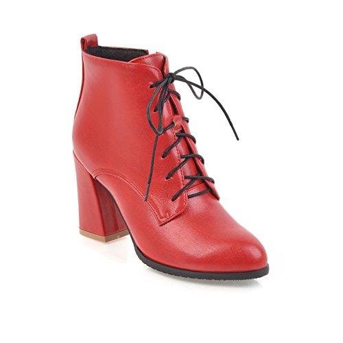 BalaMasaAbl09645 - Sandali con Zeppa donna, Rosso (Red), 35