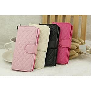 QHY Lambskin Plaid Mobile Phone Holster for iPhone 6(Assorted Colors) , White