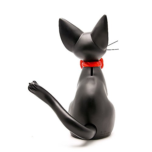 Kimkoala Kiki's Delivery Service Cats Figures, 10 Studio Ghibli Miyazaki Kiki's Delivery Service Black Cats Money Coin Piggy Bank Action Figure Toys for Children Gift for Home Decoration