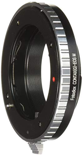 Fotodiox Lens Mount Adapter - Contax G Lens to Canon EOS M (EF-M Mount) Mirrorless Camera Body with Built-In Focus Control Dial