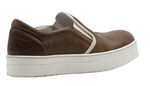 nuevo! 8100 Melrose Brown Slip De Cuero Marrón En Marrón