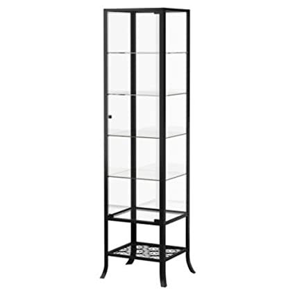 Amazoncom Ikea Klingsbo Glass Display Cabinet Lockable Kitchen