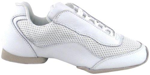Sehr feine Männer Frauen Salsa Ballroom Latin Hip Hop Tanz Turnschuhe VFSN007 Weiß mit Drahtbürste Weiß