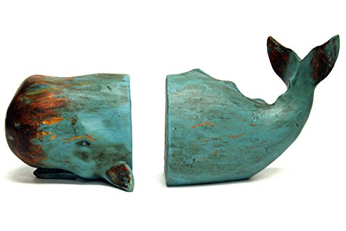 Resin Sperm Whale Bookends