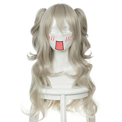 Nao Tomori Costume (Cfalaicos Long Gray Full Lace Cosplay Wig + 2 Ponytails Costume Heat Resistant Hair)