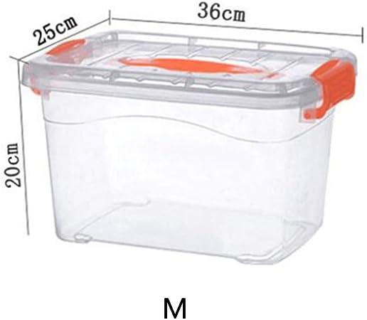 Yarmy Caja De Almacenamiento Caja De Almacenamiento De Plástico Transparente Ropa Grande De Almacenamiento De Juguetes De Coches: Amazon.es: Hogar