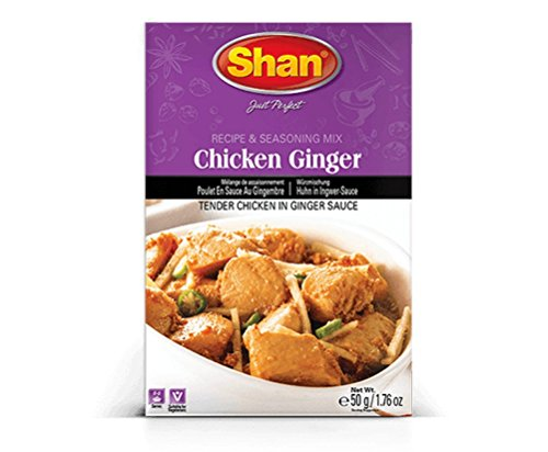 Shan Chicken Ginger Seasoning Mix, 50 Grams (Pack of 6)