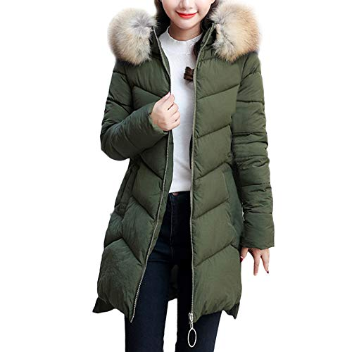 GOVOW Winter Warm Jacket Plus Size for Women Faux Fur Coat Hooded Thick Warm Slim Long Overcoat – DiZiSports Store