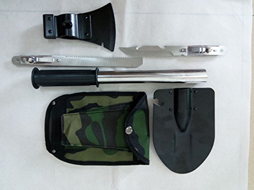 Outdoor Survival Emergency Camping Hiking Knife Shovel Axe Saw Gear Kit Tools by BHD