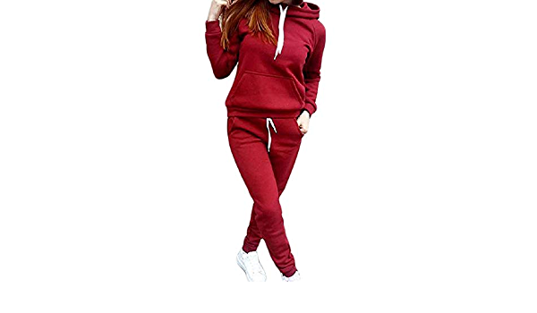 Women Hoodies Sweatshirt Pants Sets Velvet Tracksuit Jogging Gym Suit 2pcs
