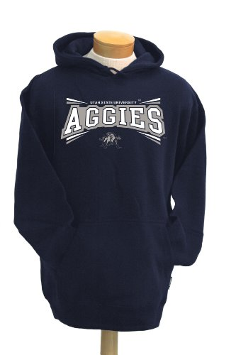 NCAA Utah State Aggies Men's Condor Hooded Sweatshirt (Navy, Medium)