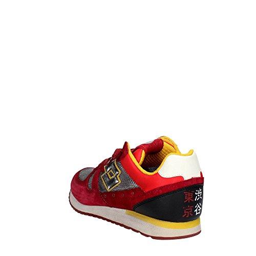 Lotto Leggenda S8840 Zapatillas De Deporte Hombre Gamuza/tejido Blanco Rojo / gris