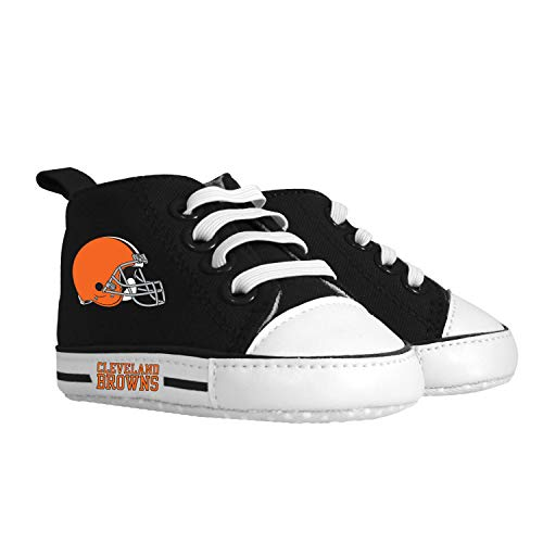 Pre-Walker Hightop (1 Size fits Most) (Hanger)   Unisex Baby Boys Girls High Top Sneaker Soft Anti-Slip Sole Newborn Infant First Walkers Canvas Child Shoes   Cleveland Browns
