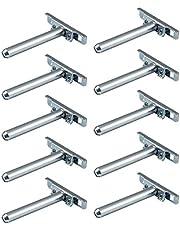 Gedotec Plankhouder verborgen plankdrager onzichtbaar voor wandmontage - ondersteuning | Lengte: 100 mm | houder metaal verzinkt | plankdragers met plaat | 10 stuks - plankdragers voor wandplanken