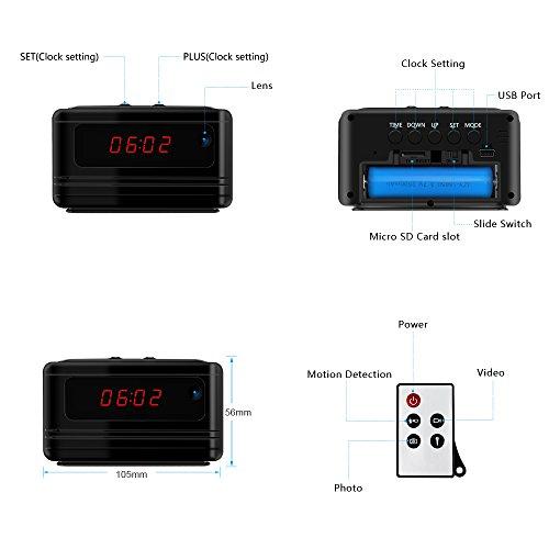 Littleadd Hidden Camera Alarm Clock 1080p Full Hd Spy