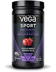 Vega Sport Post-Workout Recovery Accelerator, Apple Berry (540g, 20 Servings) - Vegan, Non Dairy, Gluten Free, Pre Workout Recovery, BCAAs, Non GMO