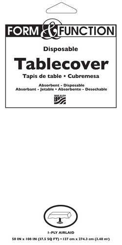 813272 white paper tablecover solid