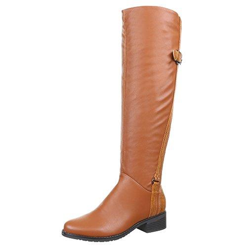 Ital-Design - Botas de Material Sintético para mujer Marrón - Camel H382