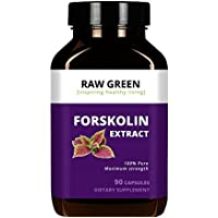 Raw Green Organics Forskolin Extract - 500mg with 20% Standardized Forskolin (90 capsules)