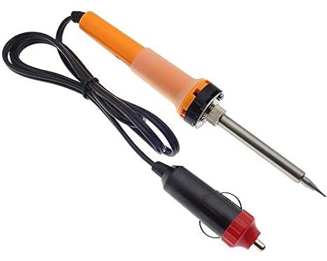 Toma de mechero de coche soldador soldadura 12 V 30 W coche barco de enchufe de soldadura de aguja: Amazon.es: Electrónica