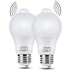 Motion Sensor Light Bulb, PDGROW 12W (120-Watt Equivalent) Dusk to Dawn LED PIR Built-in Infrared Sensor and Light Sensor, E26 1000 Lumens Indoor Outdoor LED Light Bulbs, 2 Pack