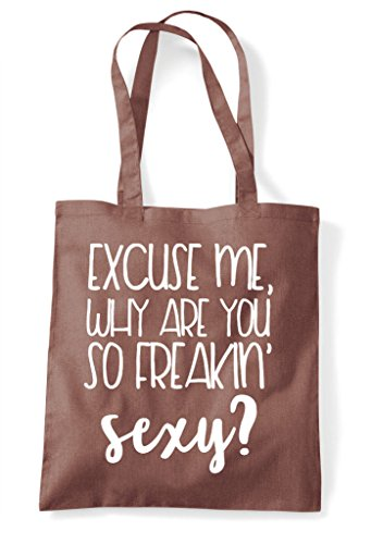 Why Bag Tote You Excuse Chestnut Are Freaking Shopper So Me Sexy RUxwUfC5q8
