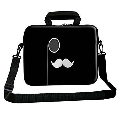 Theskinmantra White Mustache Messenger Bag for 15.6 inch Laptop