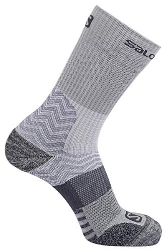 Salomon Gear - Salomon Outpath Mid Hiking Sock - Light Grey/Dark Grey Large