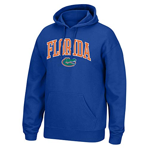 (Top of the World NCAA Men's Florida Gators Applique Arch Over Hoodie Royal Medium)