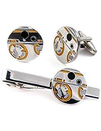 BB8 Cufflinks, Star Wars Tie Clip, Jedi Tie Tack, R2-D2 Jewelry, Darth Vader Cuff Links, Kylo Stormtrooper Death Star Gift, Star Wars C3PO Wedding Party Groomsman Gifts