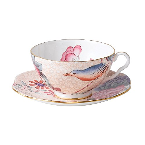 Wedgwood Harlequin Cuckoo Tea Story Teacup and Saucer, Peach