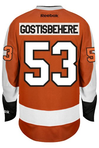 Shayne Gostisbehere Philadelphia Flyers Reebok Premier Home Jersey NHL Replica