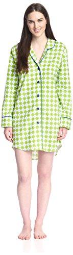 BedHead Pajamas Women's Classic Night Shirt, Kiwi Remix F...