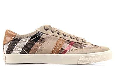 pelle sneakers Amazon beige it nuove donna Burberry in scarpe xIwOqAAg