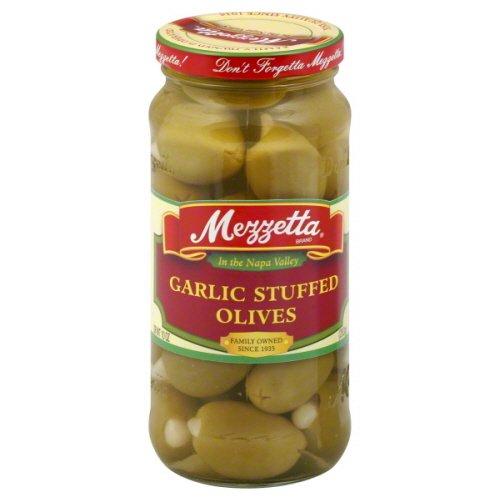 (Mezzetta Garlic Stuffed Olives, 10-ounce Jars (Case of 6))