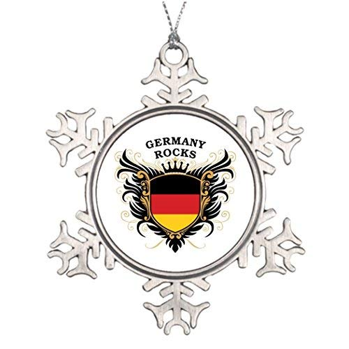 (Valerie Personalised Christmas Tree Decoration Germany Rocks Custom Snowflake)