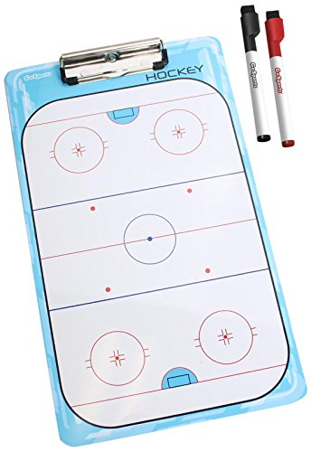 GoSports Hockey Dry Erase Coaches Board with 2 Dry Erase Pens (Rink Hockey Ice)