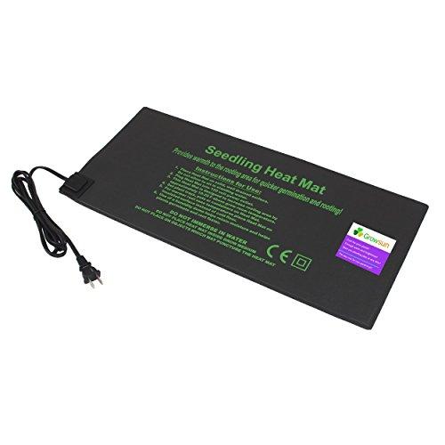 "Growsun 9"" X 20"" Seedling Heat Mat Hydroponic Heating Pad"