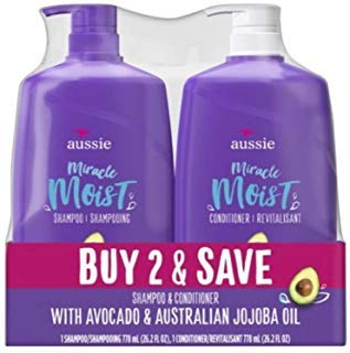 Aussie Miracle Moist Shampoo & Aussie Miracle Moist Conditioner, 2-pack, 26.2 Fl. Oz - Moist Shampoo