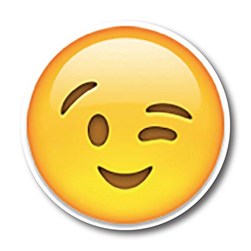 Wink Emoji Magnet Decal Perfect for Car or Truck
