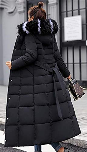 Down Thickened Hoodies Women Jacket Outwear Black Long Fur Coat EKU wqvExPXq